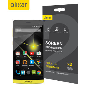 Keep your Archos Diamond 50's screen in pristine condition with this Olixar scratch-resistant screen protector 2-in-1 pack.
