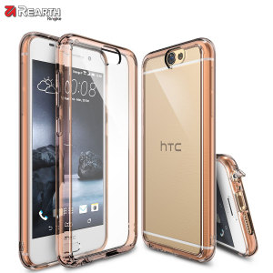 Coque HTC One A9 Rearth Ringke Fusion - Or Rose Crystal