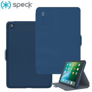 Provide smooth and sophisticated protection for your iPad Mini 4 with the StyleFolio case in blue and grey from Speck. Coming complete with a multi-angle viewing stand and secure closure system, the Speck StyleFolio keeps your iPad safe.