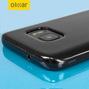 Custom moulded for the Samsung Galaxy S7, this black FlexiShield case by Olixar provides slim fitting and durable protection against damage.