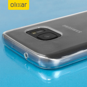 Coque Samsung Galaxy S7 Gel FlexiShield - Blanche Givrée