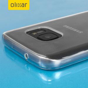 Custodia protettiva simile al cristallo ma con la durevolezza di una custodia in silicone per il Samsung Galaxy S7 in trasparente.