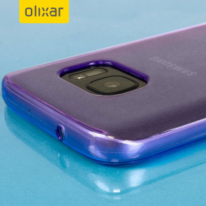Custom moulded for the Samsung Galaxy S7, this purple FlexiShield case by Olixar provides slim fitting and durable protection against damage.