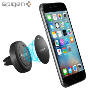 Mount your smartphone easily on your car's vents via the power of magnets with the Spigen Magnetic Air Vent Mount. This universal magnetic car mount even works with your case, allowing you to keep your phone protected while you drive.