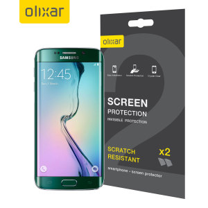 Keep your Samsung Galaxy S6 Edge's screen in pristine condition with this 2 pack of Olixar scratch-resistant self-healing, soft touch TPU screen protectors.