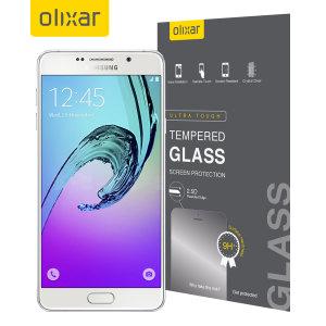 Deze ultra dunne screen protector van gehard glas voor de Samsung Galaxy A7 2016 van Olixar biedt sterke bescherming, hoge zichtbaarheid en gevoeligheid allemaal in één.