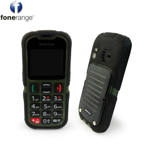 The ultimate survival phone. Built to withstand harsh conditions, the Fonerange Rugged SOS phone is dust, shock and waterproof (IP67 rating). This tough little phone also has Dual SIM functionality and a dedicated SOS button.