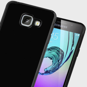 Custom moulded for the Samsung Galaxy A3 2016. This solid black Olixar FlexiShield case provides a slim fitting stylish design and durable protection against damage, keeping your device looking great at all times.