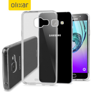Custom moulded for the Samsung Galaxy A3 2016. This clear Olixar FlexiShield case provides a slim fitting stylish design and durable protection against damage, keeping your device looking great at all times.