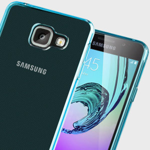 Custom moulded for the Samsung Galaxy A3 2016. This blue Olixar FlexiShield case provides a slim fitting stylish design and durable protection against damage, keeping your device looking great at all times.