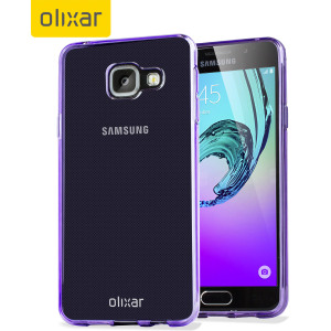 Custom moulded for the Samsung Galaxy A3 2016. This purple Olixar FlexiShield case provides a slim fitting stylish design and durable protection against damage, keeping your device looking great at all times.