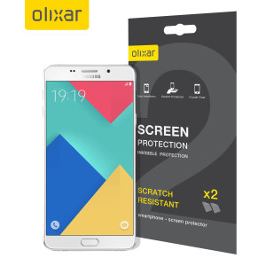 Keep your Samsung galaxy A9 screen in pristine condition with this Olixar scratch-resistant screen protector 2-in-1 pack. Ultra responsive and easy to apply, these screen protectors are the ideal way to keep your display looking brand new.