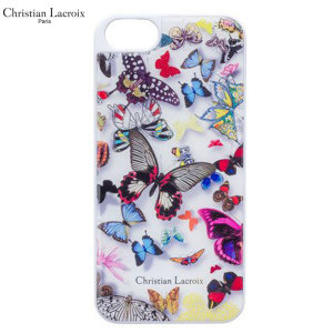 This stunningly unique white designer shell case for the iPhone 6S / 6 is from the world famous Christian Lacroix Paris fashion label. As part of the Butterfly parade collection, it is as elegant as it is protective.