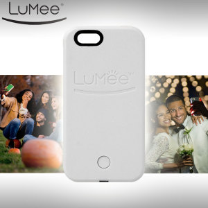 Funda iPhone 6S Plus / 6 Plus LuMee con Luz para Selfies - Blanca