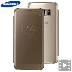 Dette offisielle Samsung Clear View dekselet er den perfekte måten å holde din Samsung Galaxy S7 smarttelefon beskyttet mens du holder deg oppdatert med varslinger fra telefonen takket være det klare siktet på frontdekselet.