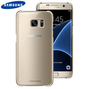This Official Samsung Clear Cover in gold is the perfect accessory for your Galaxy S7 Edge smartphone.