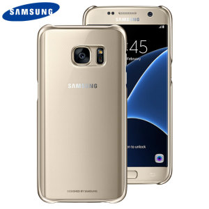 This Official Samsung Clear Cover in gold is the perfect accessory for your Galaxy S7 smartphone.