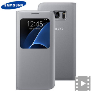 Ideal for checking the time or screening and answering incoming calls without opening the case. This silver official Samsung S View Cover for the Samsung Galaxy S7 Edge is slim and stylish.