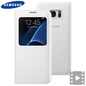 Official Samsung Galaxy S7 Edge S View Cover Case - White