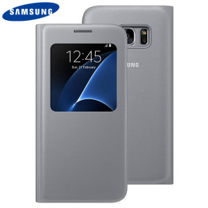 Ideal for checking the time or screening and answering incoming calls without opening the case. This silver official Samsung S View Cover for the Samsung Galaxy S7 is slim and stylish.