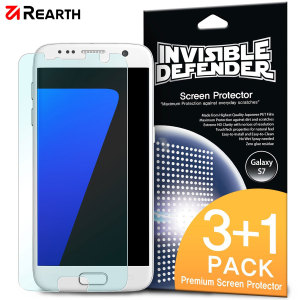 3 pack (plus one extra free) of multi-layered optical enhanced high definition screen protectors for the Samsung Galaxy S7. Features new 'TouchTech' properties for a natural touch and allows for perfect touch screen precision.