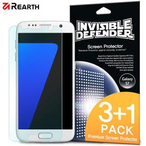 Con este pack de 4 protectores de pantalla para el Samsung Galaxy S7 de Rearth, mantendrá la pantalla de su dispositivo perfectamente protegida durante mucho tiempo, ya que si se le estropea el protector, tendrá más recambios. Evite arañazos que puedan dañar la pantalla gracias a estos protectores.