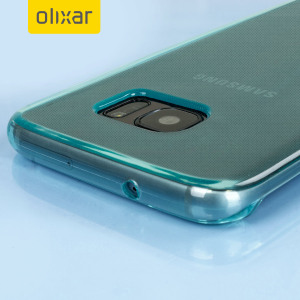 Custom moulded for the Samsung Galaxy S7 Edge, this blue FlexiShield case by Olixar provides slim fitting and durable protection against damage.