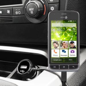 Houd je Doro Liberto 820 / 820 Mini volledig opgeladen op de weg met deze compatibele Olixar-oplader voor high power-auto's.