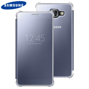 This Official Samsung Clear View Cover in blue black is the perfect way to keep your Galaxy A5 2016 smartphone protected whilst keeping yourself updated with your notifications thanks to the clear view front cover.