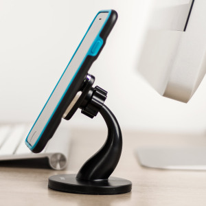 An attractive option to mount your smartphone on your desk? Look no further. Simply fit the included magnetic plate inside your case or back cover and super-simple one hand mounting is yours for as long as you want it.