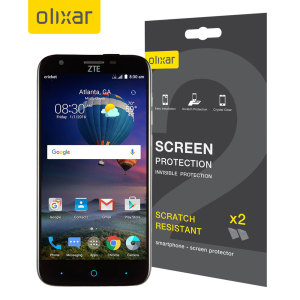 Keep your ZTE Grand X3 screen in pristine condition with this Olixar scratch-resistant screen protector 2-in-1 pack.