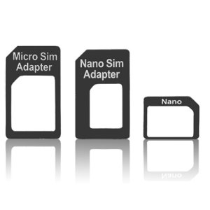 SIM Adapter 3 Pack - Nano to Micro or Standard - Micro to Standard
