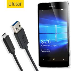 Gracias a este cable USB-C podrá estar seguro de mantener siempre cargado y sincronizado su Microsoft Lumia 950. Podrá usar este cable Olixar tanto para conectarlo a un cargador de pared como a un ordenador.