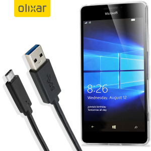 Make sure your Microsoft Lumia 950 XL is always fully charged and synced with this compatible USB 3.1 Type-C Male To USB 3.0 Male Cable. You can use this cable with a USB wall charger or through your desktop or laptop.