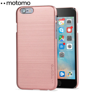 Protect your iPhone 6S / 6 with the Ino Slim Line case in rose gold from Motomo. Featuring a brushed metal style polycarbonate design, this premium case keeps your iPhone protected at all times from scratches and knocks.