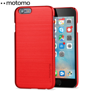 Protect your iPhone 6S / 6 with the Ino Slim Line case in red from Motomo. Featuring a brushed metal style polycarbonate design, this premium case keeps your iPhone protected at all times from scratches and knocks.