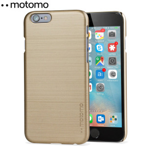 Protect your iPhone 6S / 6 with the Ino Slim Line case in gold from Motomo. Featuring a brushed metal style polycarbonate design, this premium case keeps your iPhone protected at all times from scratches and knocks.