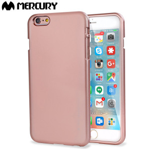 Coque iPhone 6S Plus / 6 Plus Mercury Goospery iJelly - Rose Or Métal