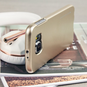 A premium gel case for your Galaxy S6. The Mercury Goospery case features a superb metallic gold gloss UV finish and robust high quality TPU gel material that will take all the knocks and look fabulous while doing so.