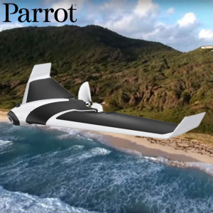 The Parrot Disco Drone is a long range flying winged drone with a first person view due to the live streaming capabilities, up to 45 minutes of flight time, easy to pilot from any smart device and can record 1080p HD video with its built-in camera.