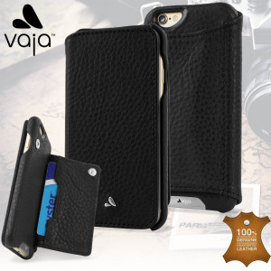 Treat your iPhone 6S / 6 to exquisite handmade craftsmanship and the highest quality materials. Featuring genuine Floater leather and a card pouch, the Vaja Niko premium leather wallet case in black is something special.