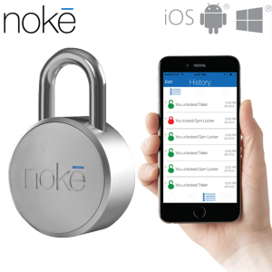 Simplicity meets security and peace of mind - as well as a whole lot of convenience. The revolutionary Noke Smart Padlock allows you to use your smartphone to lock / unlock your valuables at the touch of a button.
