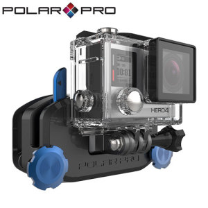 Securely mounting all GoPros and action cameras, the Universal backpack mount from PolarPro enables you to effortlessly position your action camera onto any strap in order to gain amazing first person footage.