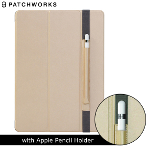 The Smart Cover just got smarter! Built-in magnets draw this champagne gold Smart Case to the iPad Pro 12.9 2015 or a perfect fit that not only protects, but also wakes up, stands up and brightens up your iPad. Includes a holder for your Apple Pencil.