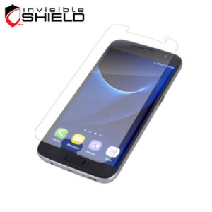 Protect your Samsung Galaxy S7's screen from scratches with the InvisibleSHIELD screen protector even with a case attached.