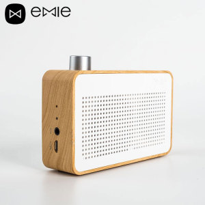 Emie Vintage Radio-Style Wooden Bluetooth Speaker