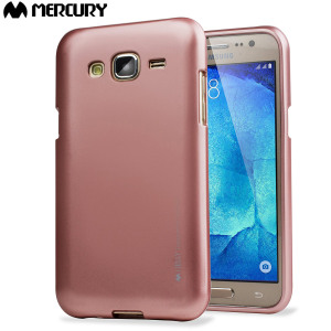 A premium gel case for your Samsung Galaxy J5. The Mercury Goospery iJelly features a premium metallic rose gold gloss UV finish and robust high quality TPU gel material that will take all the knocks and look fabulous while doing so.