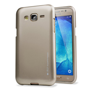 A premium gel case for your Samsung Galaxy J5 2015. The Mercury Goospery iJelly features a premium metallic gold gloss UV finish and robust high quality TPU gel material that will take all the knocks and look fabulous while doing so.