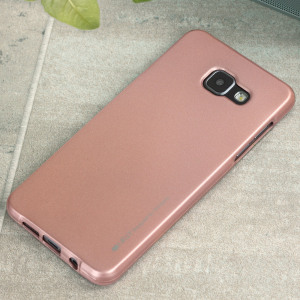 A premium gel case for your Samsung Galaxy A5 2016. The Mercury Goospery iJelly features a premium rose gold gloss UV finish and robust high quality TPU gel material that will take all the knocks and look fabulous while doing so.