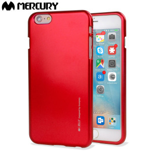 Mercury Metallic Silicone Hard Case iPhone 6S Plus / 6 Plus - Red